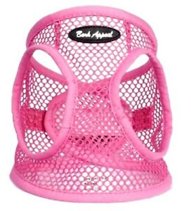 Dog-Harness-PINK-STEP-IN-Netted-EZ-Wrap-Choke-Free-Sizes-to-25-034-Chest-Bark-Appeal