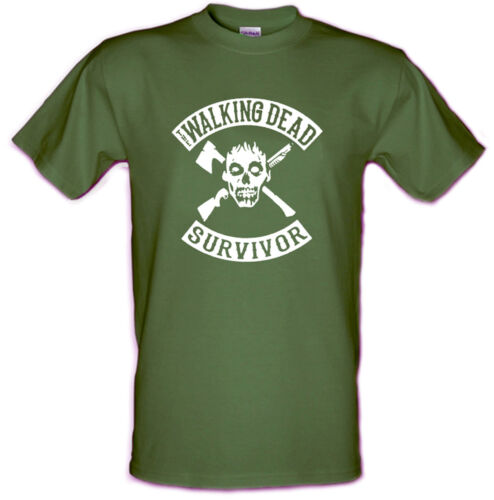 WALKING DEAD SURVIVOR Zombie Apocalypse Heavyweight t shirt Sizes Small to XXL