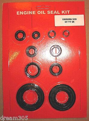 Yamaha XT500 TT500 SR500 Oil Seal Kit! 1976 1977 1978 1979 1980 1981 500 Engine