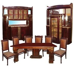 Image Is Loading Art Nouveau Dining Suite By Giambatti Gianotti 15