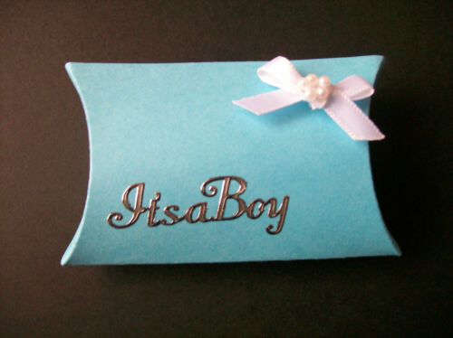 Party 1 Baby Shower SIZZIX Die Cuts 10 or 25 Pillow Favour box  Boxes Wedding