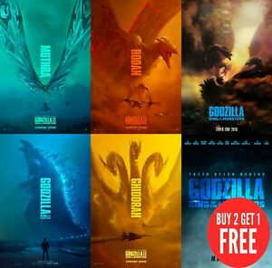 Godzilla-King-of-the-Monsters-2019-Poster-Print-A0-A1-A2-A3-A4-A5-A6-MAXI-C401
