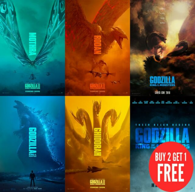 A4 A3 A2 A1 A0| Movie Art Poster T176 Godzilla
