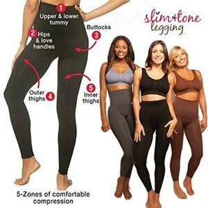 40d10e13e3f13 Image is loading Slimming-Shaping-Compression-Leggings -Women-High-Waist-Casual-
