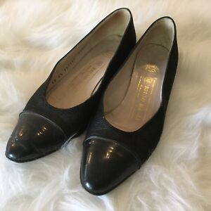 BRUNO-MAGLI-Women-s-Leather-Shoes-Size-6-5AA-Black-Pumps-Made-In-Italy