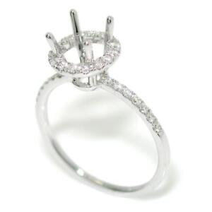 Halo-Engagement-Ring-Setting-For-6-0-mm-Round-Center-In-14k-White-Gold-Size-6-75