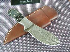 Damast Messer Widderhorn Damastmesser 264 Gramm Handarbeit ASW KNIVES Top Neu