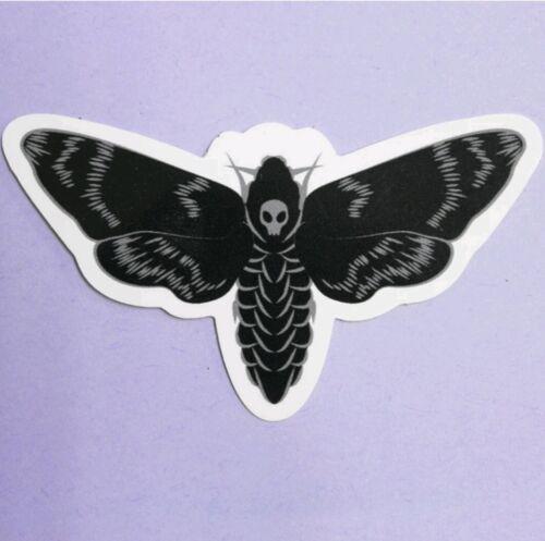 Deathshead Hawkmoth Sticker black window car laptop deaths head skull hawk moth