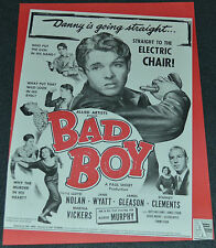 BAD BOY 1949 ORIGINAL 9x12 TRADE AD! BADASS AUDIE MURPHY IN HIS FIRST FILM!