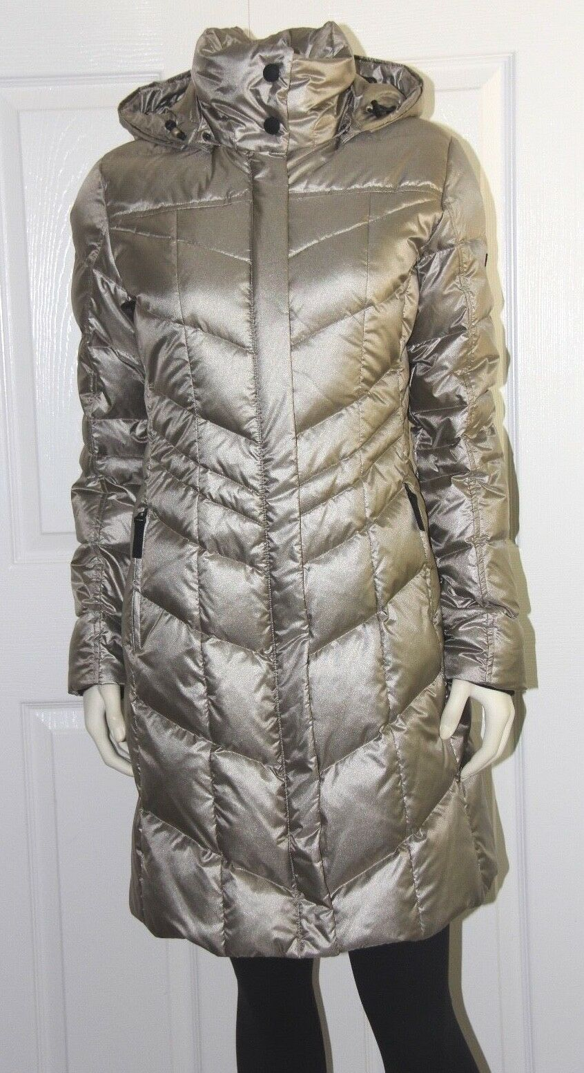Bogner Fire + Ice Dalia-D Down Coat - Women's Size US 4 XS - gold - NEW