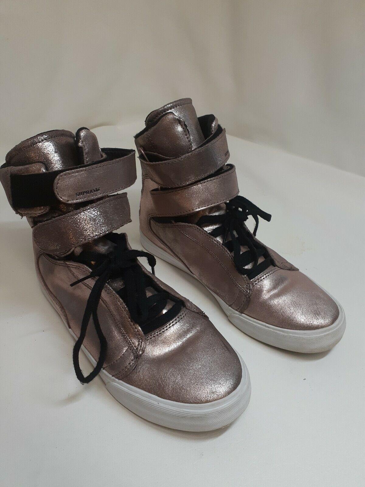 men's 10 m Supra TK Society Gold copper Hi Top fashion Sneakers Shoes