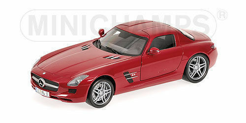 1 18 Minichamps Mercedes Benz SLS AMG red metallic