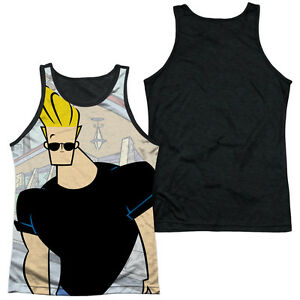 7fa28940bd01f JOHNNY BRAVO HANGING OUT Men s Black Back Tank Top Sleeveless Tee SM ...