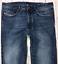 Da-Uomo-DIESEL-BUSTER-Jeans-W31-L34-Blu-Regular-Slim-Tapered-Wash-0838B miniatura 1
