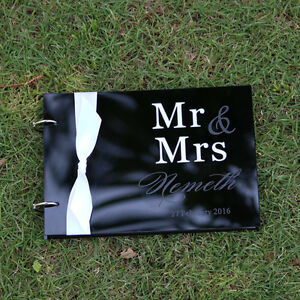 Personalized Engraved Mr Mrs Surname Acrylic Names Wedding Guest