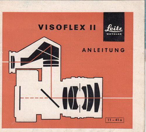 Leitz manual de instrucciones para visoflex II-instrucciones