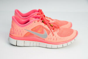 Nike-Free-Run-3-Running-Shoes-510643-600-Hot-Punch-amp-Silver-Womens-Sneakers-US-6