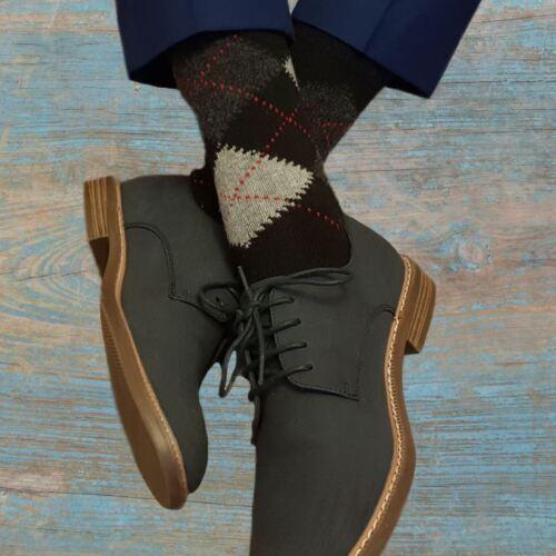 Ethan 3 Pairs of Men/'s Argyle Wool Cashmere Socks
