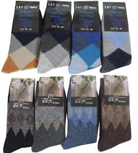 6 Paar Damen Herren Socken Strümpfe Business Wintersocken Wollsocken Angora