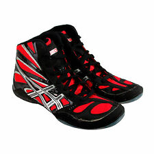 Asics Split Secound 8 Mens Black Synthetic Athletic Lace Up Wrestling Shoes 11.5