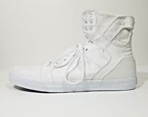 Top Canvas Mens Skate Shoes White Size