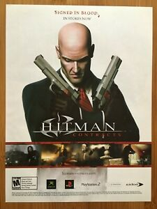 Hitman-Contracts-PS2-Playstation-2-Xbox-PC-2004-Poster-Ad-Art-Print-Promo-Rare