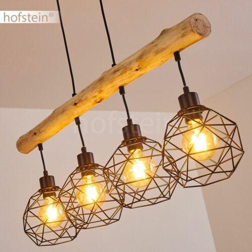 Vintage Hänge Lampe Holz Ess Wohn Schlaf Zimmer Raum Beleuchtung Pendel Leuchten