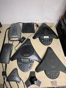 Job-Lot-of-Polycom-SoundStation-1-amp-2-Conferencing-Equipment-Gyro-Cameras