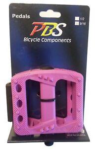 PAIR  Pink New Bicycle pedal 9//16 platform bmx cruiser urban fixie mtb bike