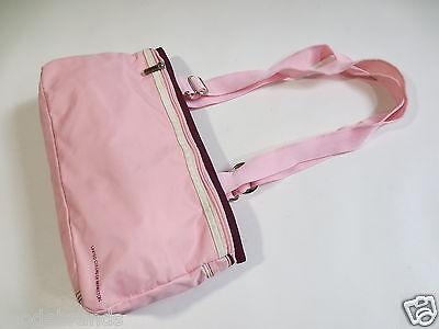 Handtasch BENETTON Tasche Schultertasche Citybag rosa aubergine wie TIP TOP/W50