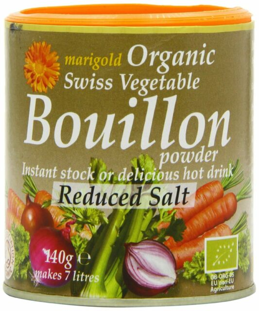 Organic Reduced Salt Bouillon Powder - 140g