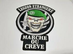 patch ecusson thermocollant brodé legion étrangère betet vert H10cm L8,5 cm