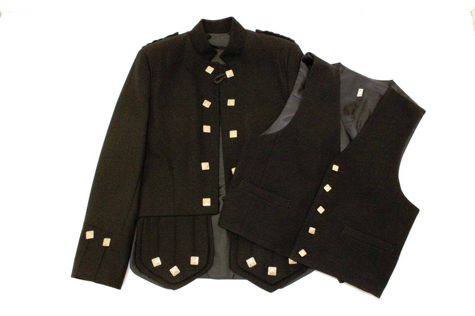 Black Sherriffmuir Kilt Jacket & Vest - reduced to clear