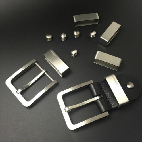 38//37//35//33mm Titanium Alloy Belt Fasten Loop Belt Fix Ring For Mens Belt Buckle