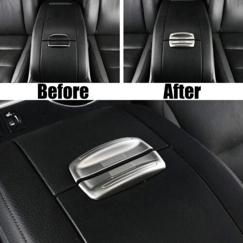 For Toyota Highlander 2014-2018 Chrome Armrest Storage Bin Box Cover Trim Bezel