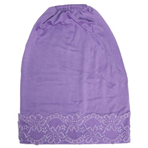Women Muslim Headwear Underscarf Islamic Hijab Inner Cap Bonnet Arab Headscarf