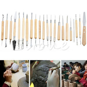22Pcs-Pottery-Clay-Sculpture-Carving-Modelling-Ceramic-Hobby-Tools-Art-Craft-DIY