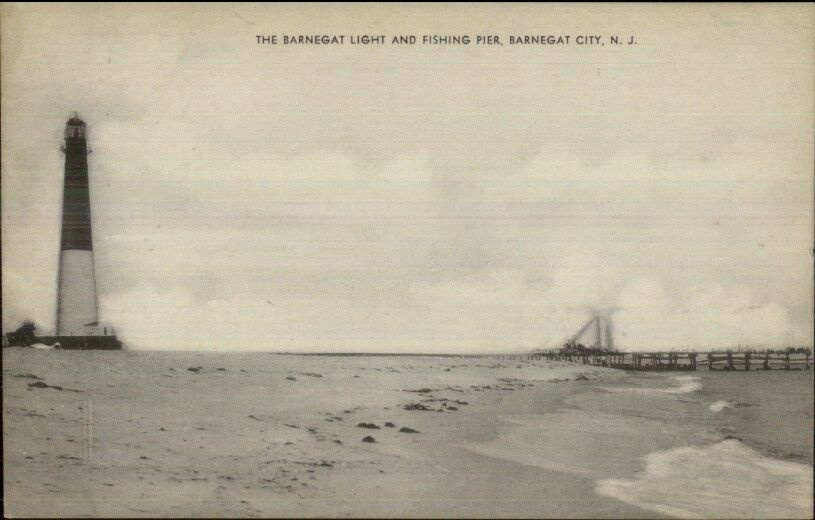Barnegat NJ Lighthouse Old Postcard #3
