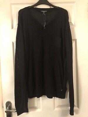 Prezzo Più Basso Con Bnwt, Uomo Nero Maglione Da Aggressivo & Black Couture, Taglia Xl-mostra Il Titolo Originale