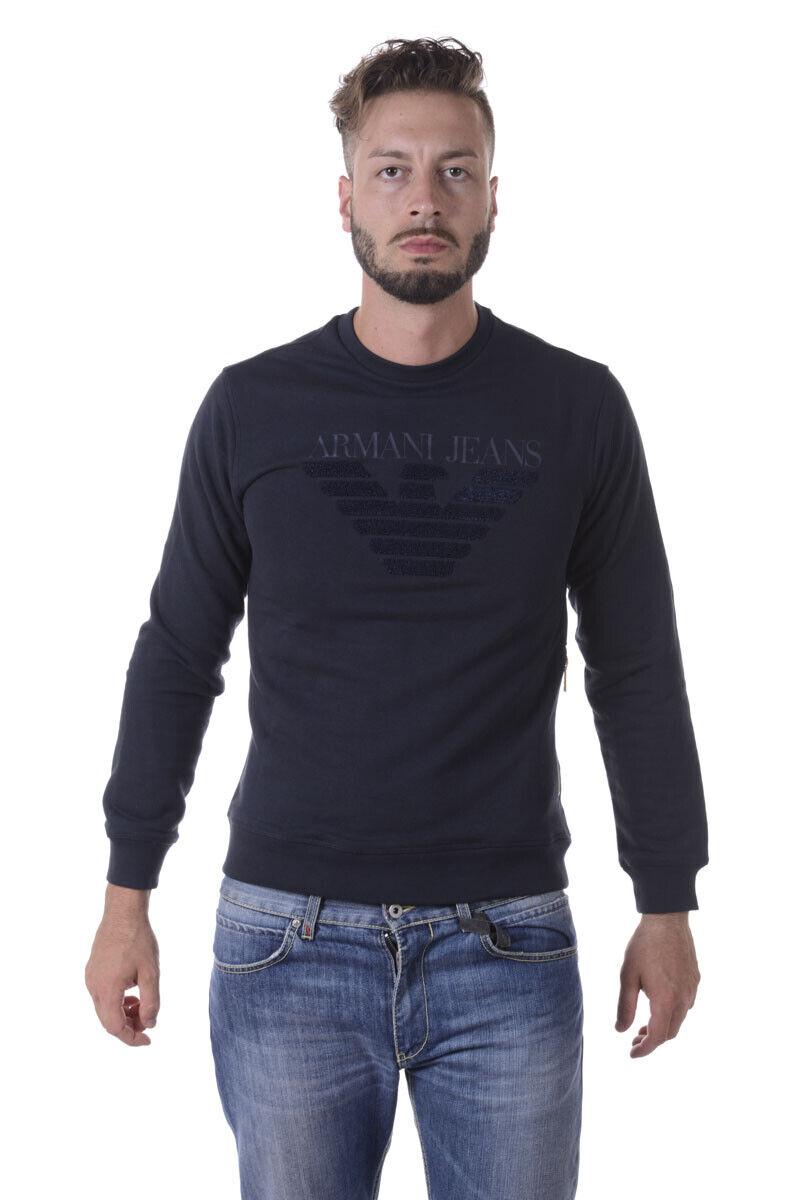 Armani Jeans AJ Sweatshirt Hoodie Man Blues 6Y6M096J1MZ 1579 Sz. XL PUT OFFER