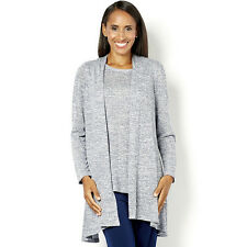 Kim & Co Womens Knitted Cardigan Twinset Top & Cardigan XL BNWT QVC £60.95 Blue