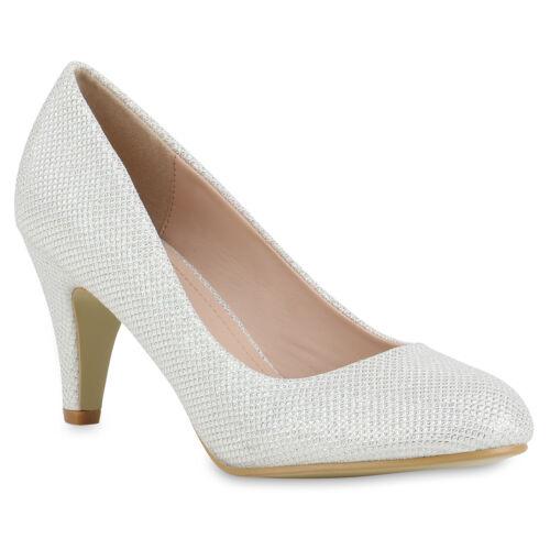 Klassische Pumps Damen Glitzer Abend Schuhe Party Stilettos 817000 New Look