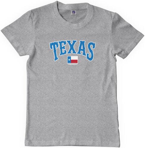 Threadrock Kids Texas Text and State Flag Youth T-shirt Texan Pride USA
