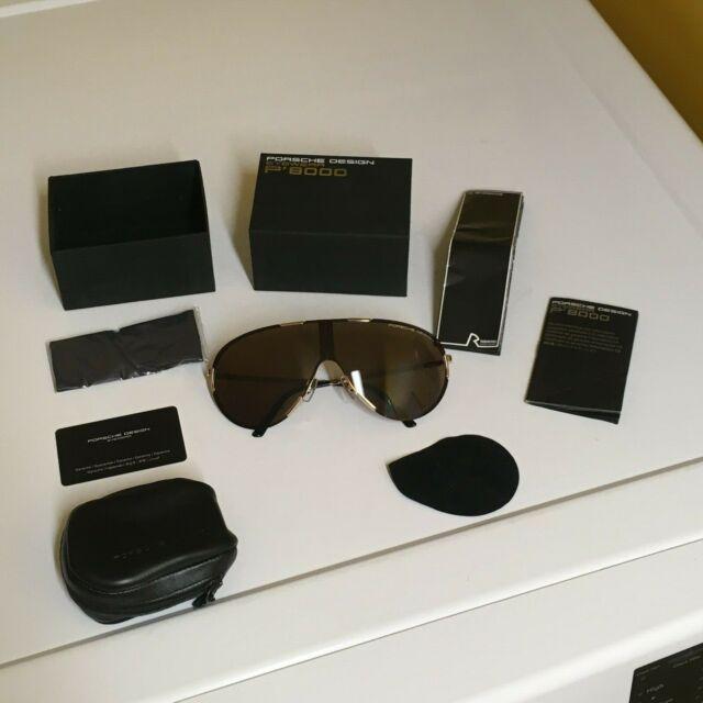 Porsche Design P8598 C Men/'s Grey Gold Full Rim Sunglasses Italy Brand New