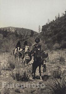 1900/72 EDWARD CURTIS Folio Size NATIVE AMERICAN INDIAN Apache Horse Photo Art