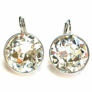 b6eb2f0fe Image is loading Large-Round-Bella-Women-Crystal-Earrings-Made-with-