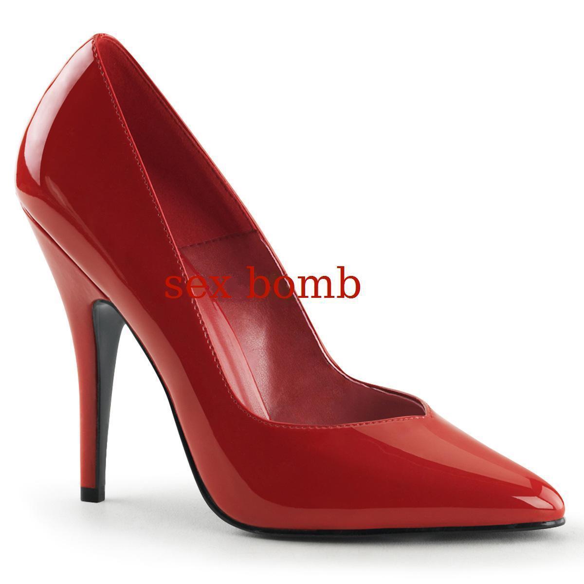 Sexy DECOLTE' ROSSE tacco 13 dal 35 al scarpe 46 scollo a V scarpe al GLAMOUR fashion 3577a4