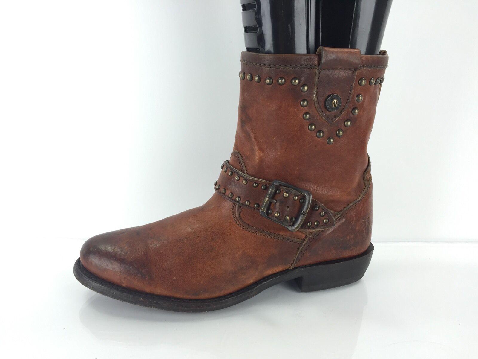 spedizione gratuita in tutto il mondo Frye Donna  Marrone Leather Leather Leather stivali 5.5 B  rivenditore di fitness