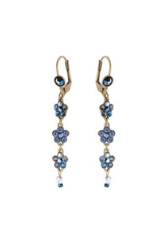 Michal Negrin Dangle Earrings 13075 Drop//Dangle Blue #100130751019