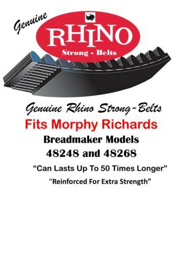 Model 48268 48248 ⭐⭐⭐⭐⭐ Morphy Richards Bread Maker Belts Rhino Drive Belts